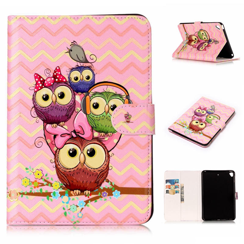 3D relief animal flower case with card slots for iPad mini 5