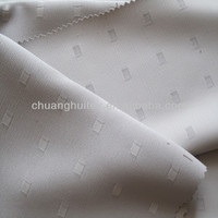 2013 New product 100% polyester dobby jacquard small grid two tones blackout jacquard curtain fabric