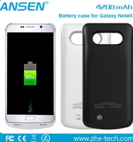 Wireless Mobile Phone Charger Backup External Battery Case Backup Power Bank Case For Samsung Note 5