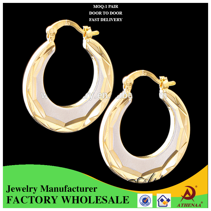 Yellow Gold Plated Copper AlloyTrendy 18k Gold Hoop Huggie Earring for Unisex