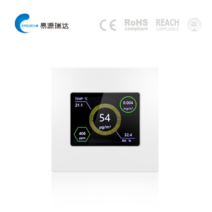 Household PM1.0 PM2.5 PM10 CO2 formaldehyde temperature humidity air quality detector