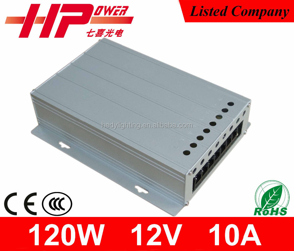 Factory price high reliability CE RoHS constant voltage single output ac dc 10A 120W 12V 9ch cctv central power supply