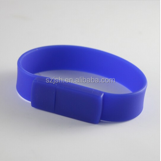 Promotional Gift Silicone Wristband USB Flash Disk with Customized Logo