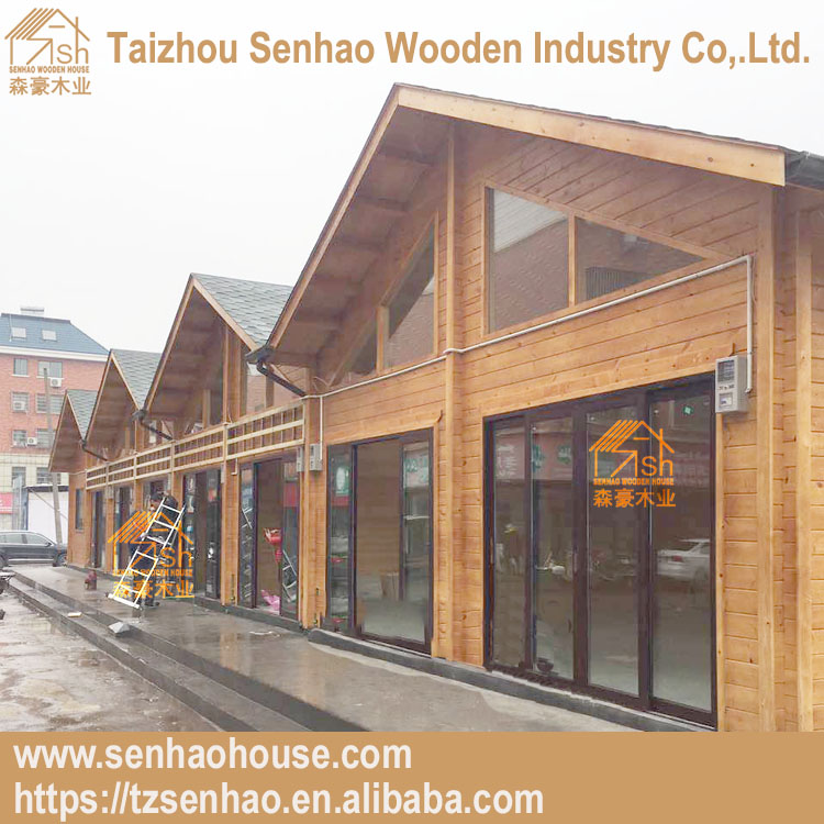 Customized design timber house 1floor professional shopping wooden