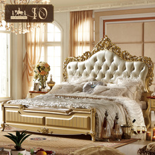 FA122# luxury royal bedroom latest double bed designs carved patterns wooden king size bed primitive bedroom furniture