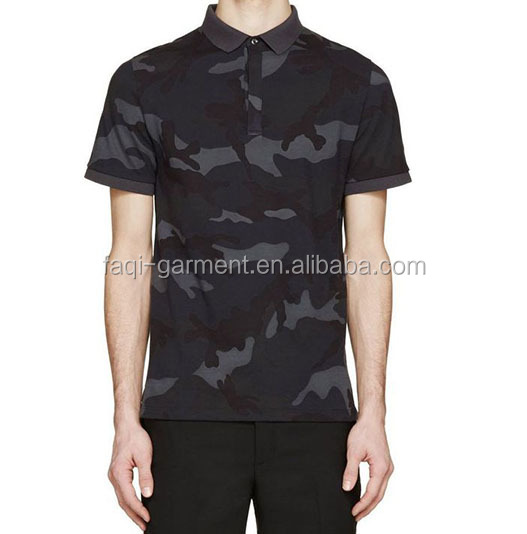 High quality camo polo dry fit and breathable custom t-shirt