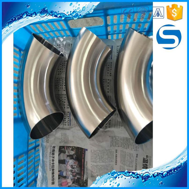 stainless steel pipe fitting stainless steel sanitary elbow fitting pipe bend for handrail fitting