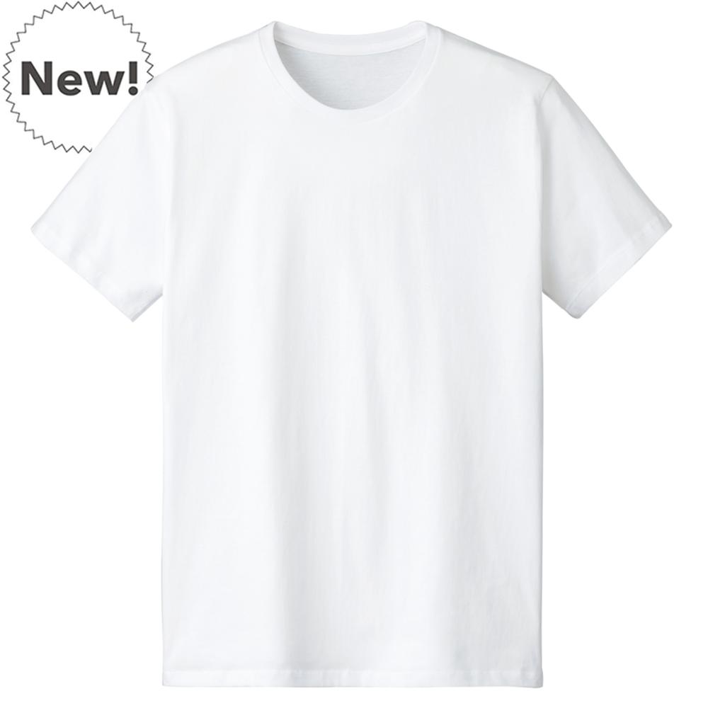 Stock White short sleeve men's t shirt