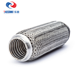 Internal aluminized spiral muffler corrugated stainless steel exhaust pipe for truck