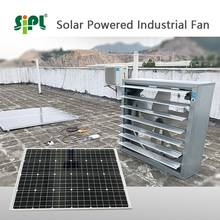 Powerful poultry house fan 300W solar powered industrial air cooling ventilator exhaust fan