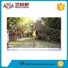 Factory price latest cheap modern gate designs/simple iron gate/steel gate drawing