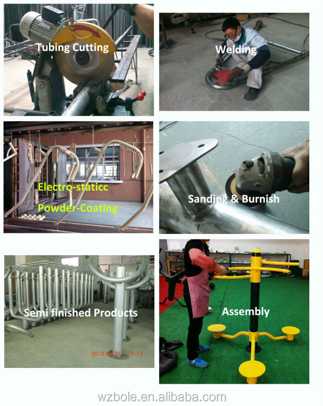 China Manufacturer Outdoor Fitness Equipment Commercial Gym Equipment Exercise Arm Equipment