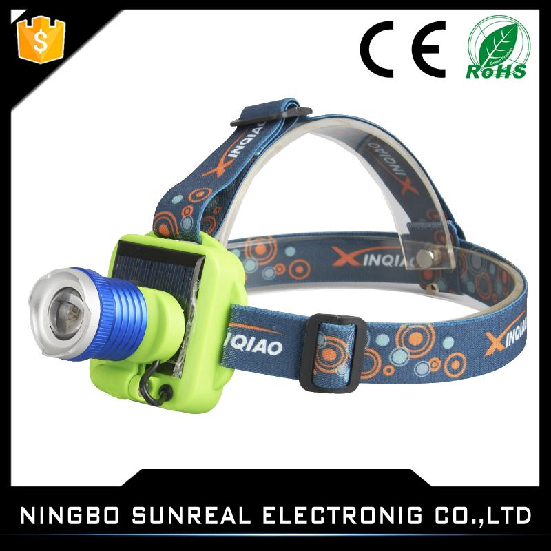 Long-range Hunting Night Light Solar Charging Led Rechargeable Head Lamp