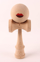 funny kendama wooden toy with sexy lips kendama for wholesale