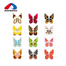 Wholesale kids love lifelike modeling funny paper 3d flying butterfly toys for children gift