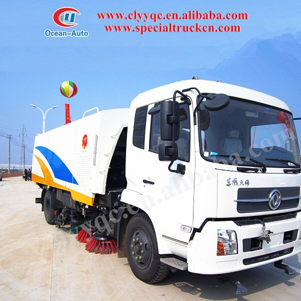 DONGFENG BRAND! Street cleaner with cleaning brush and water spraying function for hot sale