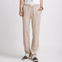 High Quality New Arrival Men's Loose Beach Linen Pants For Sale