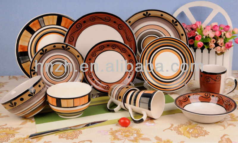 Ceramic Handpainting ethnic minorities indian tableware dinner sets