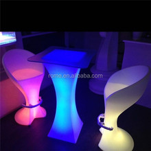 Decorative waterproof led bar stools/KTV party stools/Light Up led Bar Stool