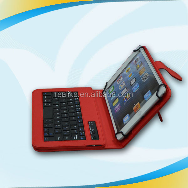 Case for apple ipad 2 3 4 with keyboard ,Cheap high quality lychee pu leather universal tablet case stand function