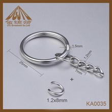 DIY split ring keyring with 4 link chain and jump ring
