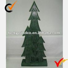 Holiday wooden decor christmas tree decor