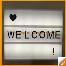 SPRA-238 A4 size led light box cinematic led lightbox advertising light box with letters