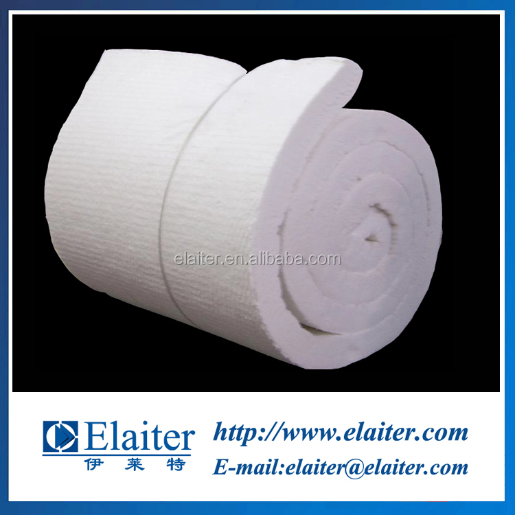 Refractory high alumina ceramic fiber blanket/felts & ceramic fibre mat for flue liner