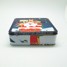 Professional general function large square cookies storaging tin boxes