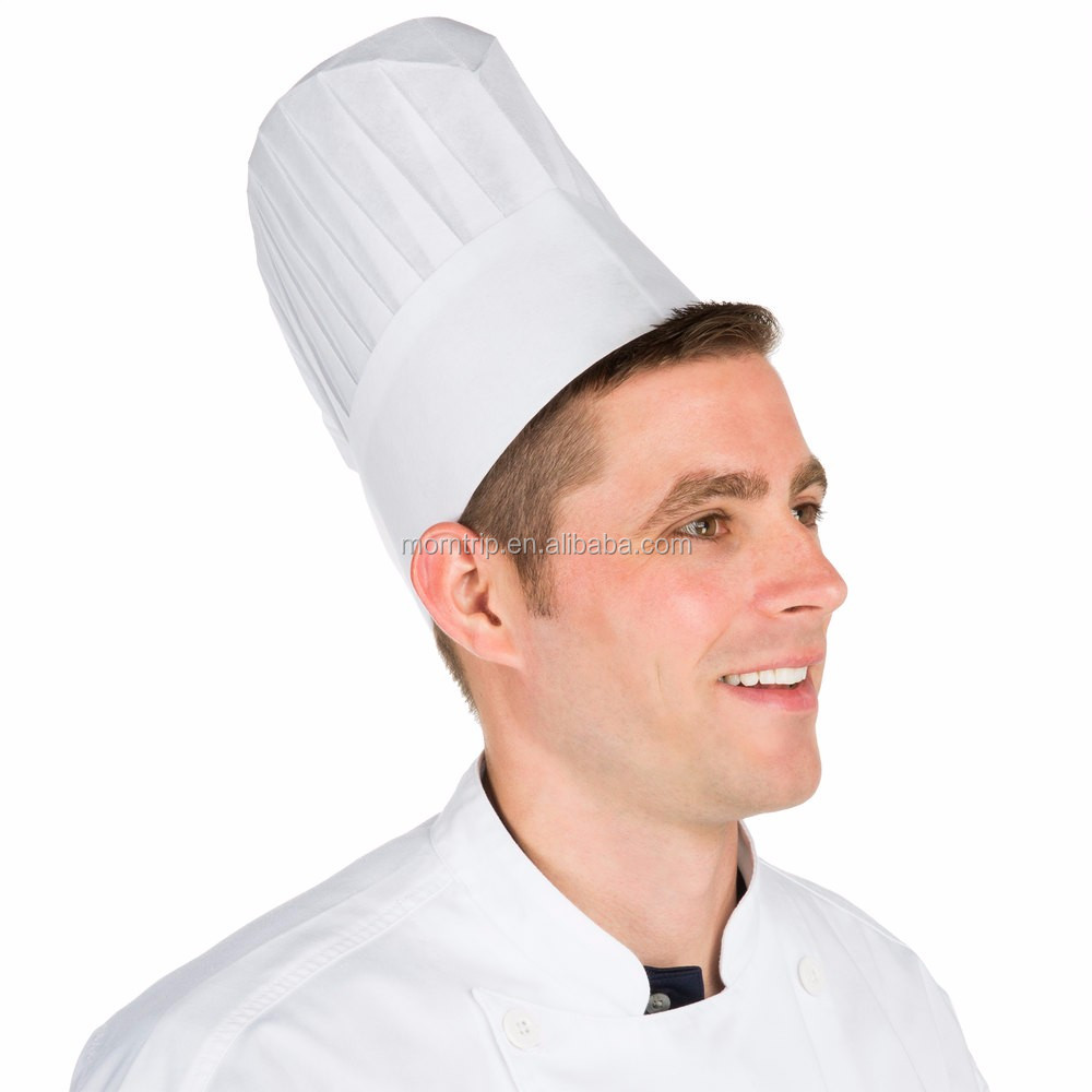 non woven disposable pleated paper chef cap kitchen hat chef cap buy disposable nonwoven chef. Black Bedroom Furniture Sets. Home Design Ideas