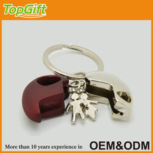 Love couple keychain in broken heart shape for wedding event