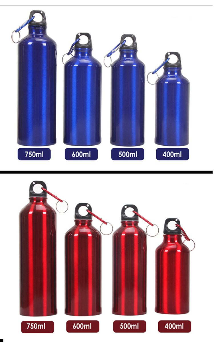 Promotional mountop 750ml Wholesale Metal Aluminum Sports Water Bottle with Custom Logo