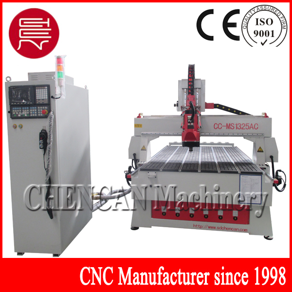 CC-MS1325AC4 After-sales Service Provided and New Condition 3d cnc router 6 knives for change