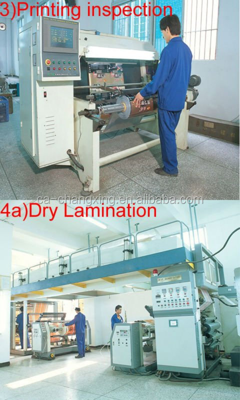 Laminated plastic form fill seal automatic packaging film roll