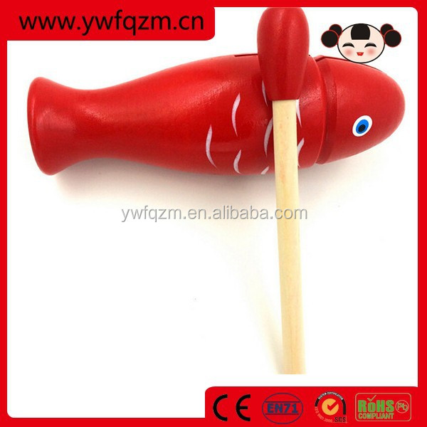 Fish shape muyu wooden musical percussion instrument