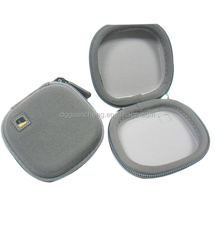 GC- Nature Gray velvet fabric jersey lining custom headphone pack eva case