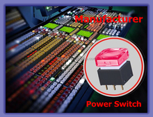 Longer Use Life Touch Pressure Simply RGB Colors LED Electrical Equipment Power Switches