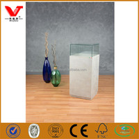 High end pedestal display showcase for jewelry shop showroom designs with silver melamine base