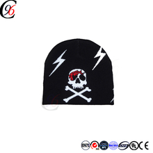 Chengxing custom baby bobble jacquard outdoor winter sports embroidery design acrylic spandex knitted fabric woven cc beanie hat
