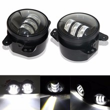 4 Inch 30W LED Fog Light For Jeeps Wrangler JK 07~14 High Power CREES LED Fog Lamp Auto DRL Lighting Led Headlamp