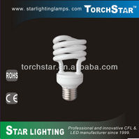 18W T2 half spiral energy saving bulbs
