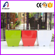 Classical modelling beautiful rectangular flower pot&self-watering pot &square plastic flower pot