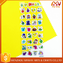 3D transparent cartoon animal foam sticker/puff sticker/sponge sticker