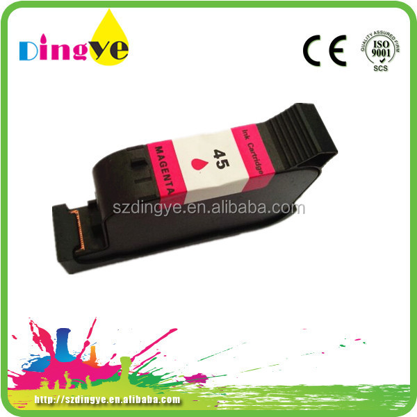 For hp 51645a remanufactured ink cartridge magenta egg printing ink cartridge for hp45