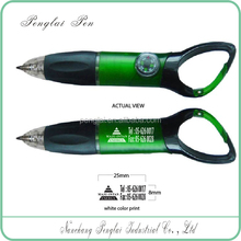 Color Promotional Ballpoint Pens Carabiner Compass Ball Pens