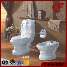 Bathroom combination two-piece toilet vagina muslim toilet bidet AB-180