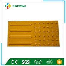 outdoor safety rubber flooring paver/tile for blind walkway