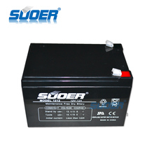 Suoer high quality maintenance free dry battery 12V 12AH voltage charger li-ion battery charger