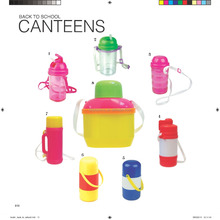 DD plastic 1100ml baby children kids drinking water round canteens