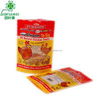 accept order stand up ziplock mealworm packaging bag resealable plastic chicken treats pouch transparent pet food bag